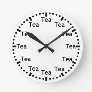 Horloge murale drôle heure de thé