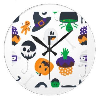 Horloge murale éffrayante mignonne superbe de