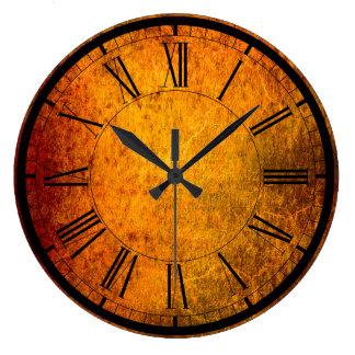 Horloge murale élégante de texture de rouille