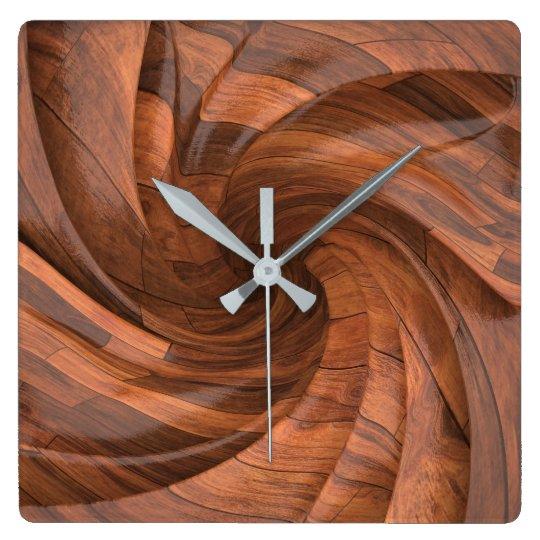 Horloge murale en bois segmentée de conception