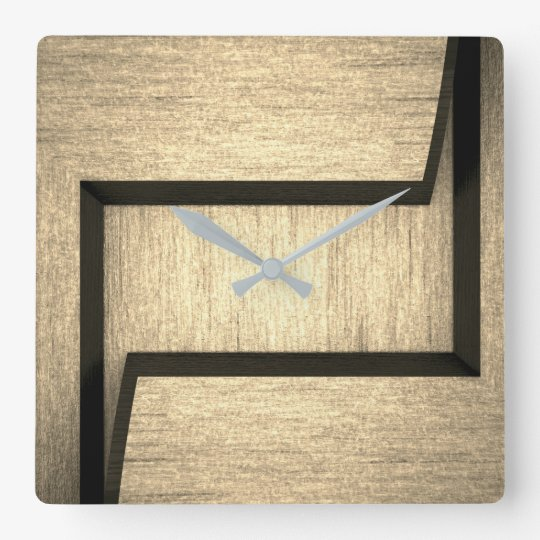Horloge murale en bois simple de conception