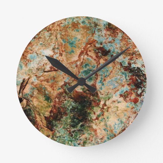 horloge murale en pierre naturelle zazzle. Black Bedroom Furniture Sets. Home Design Ideas