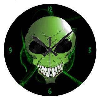 Horloge murale étrangère verte