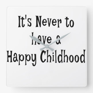 Horloge murale heureuse d'enfance