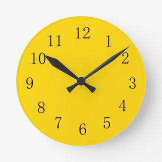 Horloge murale jaune d'or profonde de cuisine