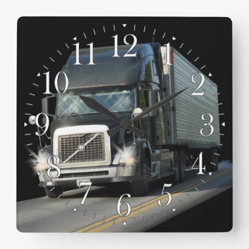 Horloge murale lourde d'art de camion de cargaison