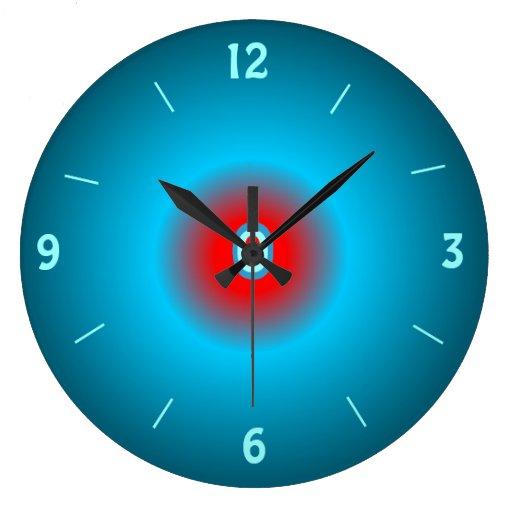 Horloge murale lumineuse de red de vert de mer zazzle for Horloge lumineuse