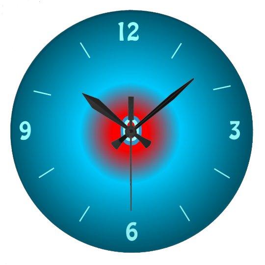 Horloge murale lumineuse de red de vert de mer for Horloge lumineuse