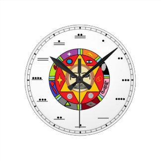 Horloge murale maya de nombre