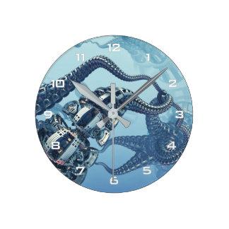 Horloge murale mécanique de Kraken