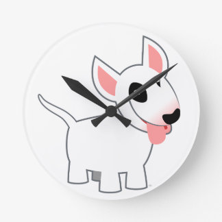 Horloge murale mignonne de bull-terrier de bande d