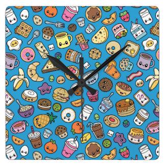 Horloge murale mignonne de nourriture de petit