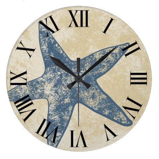 horloge murale moderne horloge d 39 toiles de mer zazzle. Black Bedroom Furniture Sets. Home Design Ideas