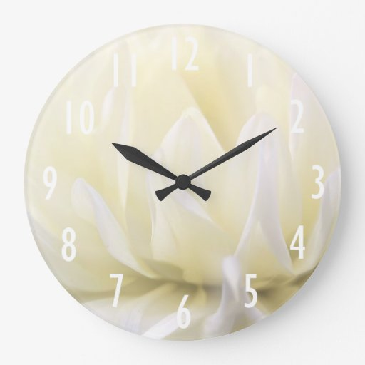 Horloge murale molle de fleur blanche zazzle - Grande horloge murale blanche ...