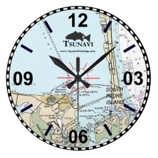 Horloge murale nautique de diagramme - île du sud