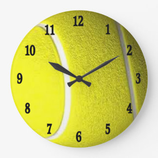 Horloge murale noire de sport de nombres de balle