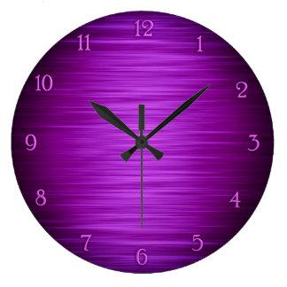 Horloge murale ombragée par pourpre élégant