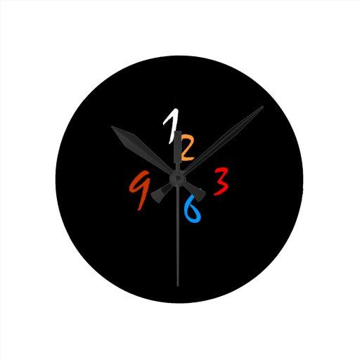 horloge murale originale simple de minimalist d 39 a zazzle. Black Bedroom Furniture Sets. Home Design Ideas