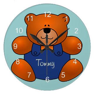 Horloge murale personnalisée de conception d'ours