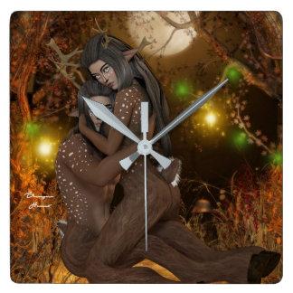 Horloge Murale Romance D'automne