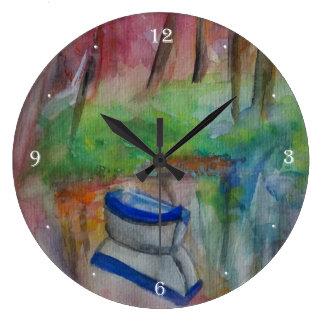 Horloge murale ronde de beau matin (grande)