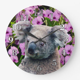 Horloge murale ronde de koala