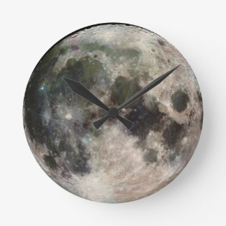 Horloge murale ronde de visage de lune
