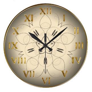 Horloge murale ronde décorative de chiffres