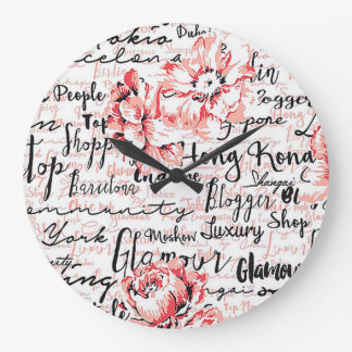 Horloge murale ronde inspirée de la vie