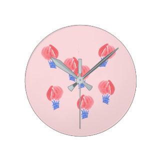 Horloge murale ronde moyenne de ballons à air