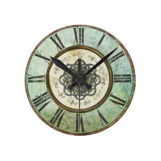 Horloge murale ronde sale vintage