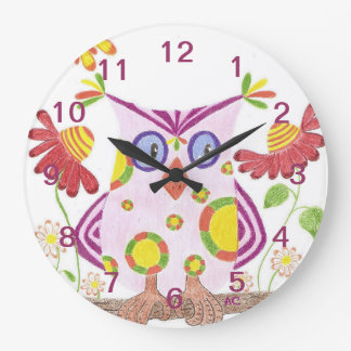 Horloge murale rose-clair de pièce de crèche de