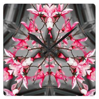 Horloge murale rose de conception