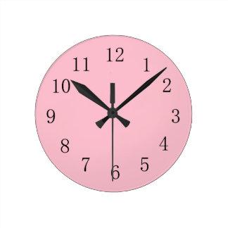 Horloge murale rose molle de cuisine