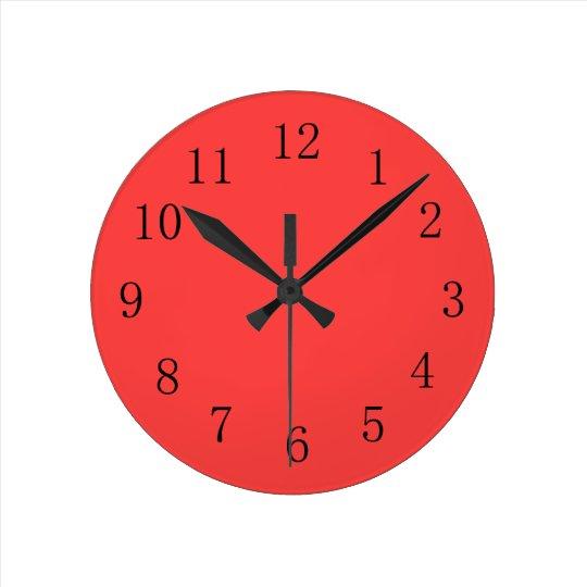 Horloge murale rouge de corail lumineuse de for Horloge lumineuse