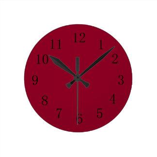 Cuisine rouge horloges cuisine rouge horloges murales - Horloge murale cuisine rouge ...