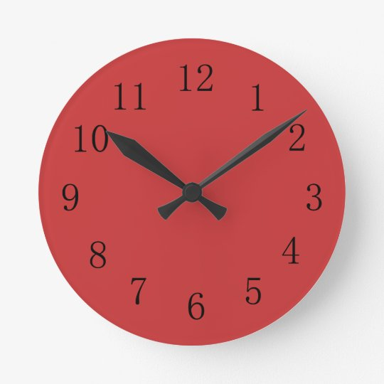Horloge murale rouge persane de cuisine zazzle - Horloge murale de cuisine ...
