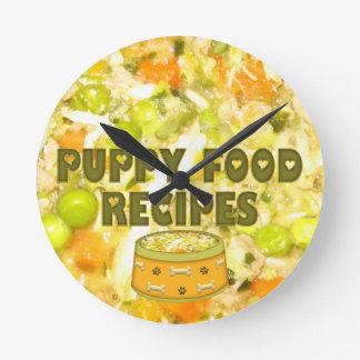 Horloge murale saine d'aliments pour chiens