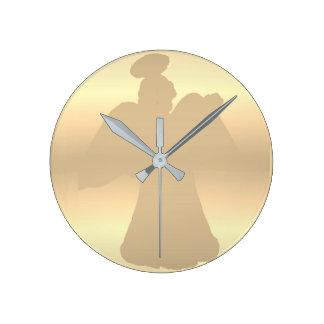 Horloge murale : Silhouette d'ange