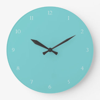 Horloge murale turquoise de ciel