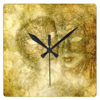 Horloge murale vénitienne de masques