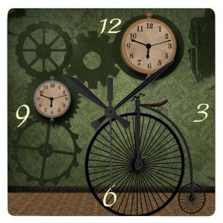 Horloge murale vintage de thème de Steampunk