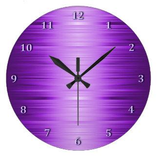 Horloge murale violette pourpre ombragée de
