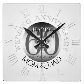 Horloge N romain d'anniversaire de mariage de