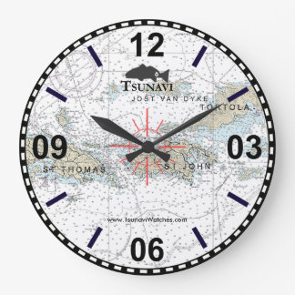 Horloge nautique de diagramme des Îles Vierges