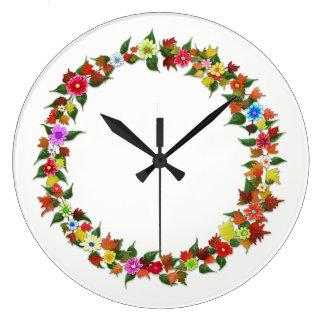 Horloge peinte à la main de fleur