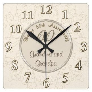 Horloge personnalisable d'anniversaire pour des