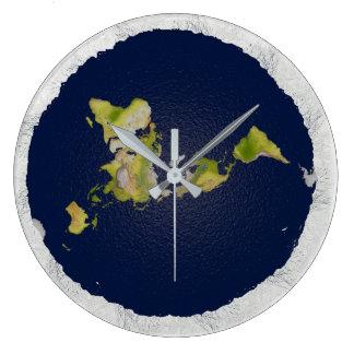 Horloge plate de la terre