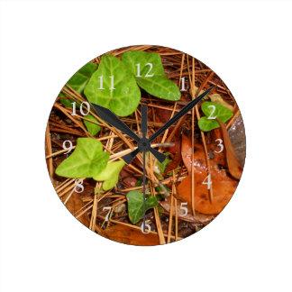 Horloge pluvieuse de feuille de lierre anglais de