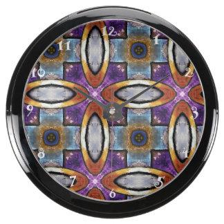 Horloge pourpre, grise, en bronze décorative d'Aqu Aqua Clock